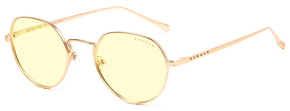 Gunnar Infinite Computer Glasses with Satin Gold Frame and Amber-React Lens
