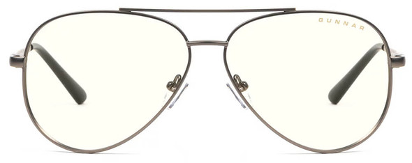 Gunnar Maverick Computer Glasses with Gunmetal Frame and Clear Lens - Front