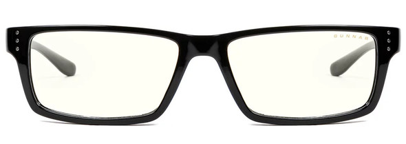 Gunnar Riot Computer Glasses with Onyx Frame and Clear Lens - Front