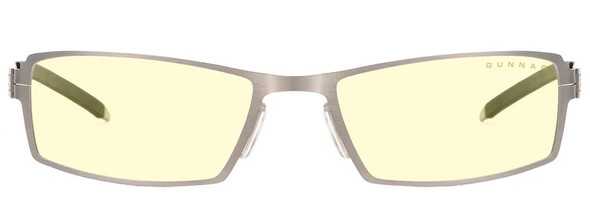 Gunnar Sheadog Computer Glasses with Mercury Frame and Amber Lens - Front