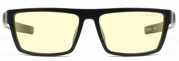 Gunnar Valve Computer Glasses with Onyx Frame and Amber Lens - Front