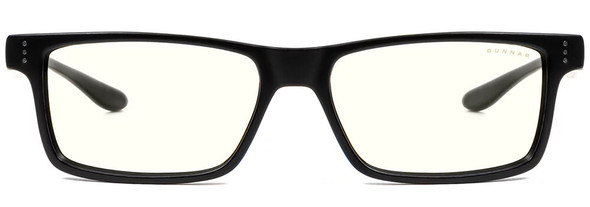 Gunnar Vertex Computer Glasses with Onyx Frame and Clear Lens - Front