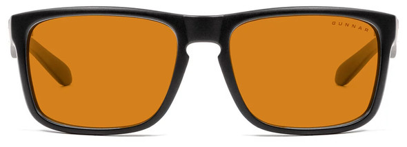 Gunnar Intercept Computer Glasses with Onyx Frame and Amber Max Lens - Front