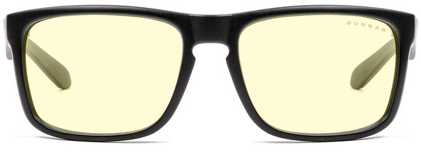 Gunnar Intercept Computer Glasses with Onyx Frame and Amber-React Lens - Front