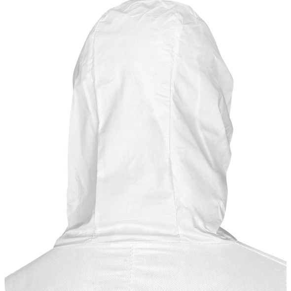 DeltaPlus Disposable Coveralls Non-Woven Hooded - Back view of hood