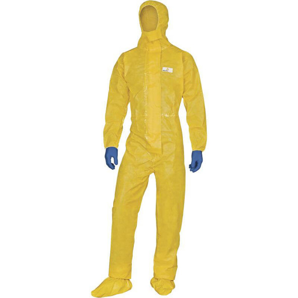 DeltaPlus Deltachem Coveralls With Taped Seams and Elastic Hood
