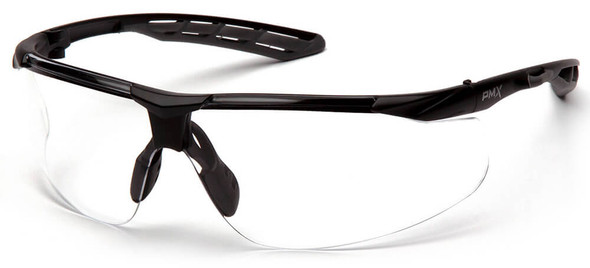 Pyramex Flex-Lyte Safety Glasses with Black/Gray Frame and Clear Lens