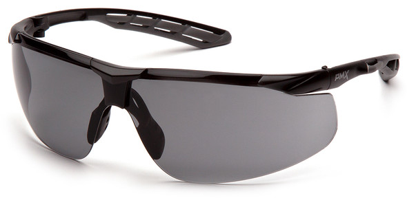 Pyramex Flex-Lyte Safety Glasses with Black/Gray Frame and Gray H2MAX Anti-Fog Lens