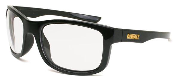 DeWalt Supervisor Safety Glasses with Black Frame and Clear Lens DPG107-1D