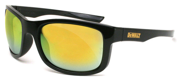 DeWalt Supervisor Safety Glasses with Black Frame and Yellow Mirror Lens
