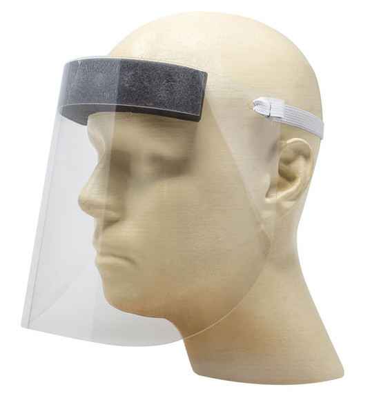 Tekna Disposable Face Shield Clear PET Splash Protection 25 Pack FS1000-025