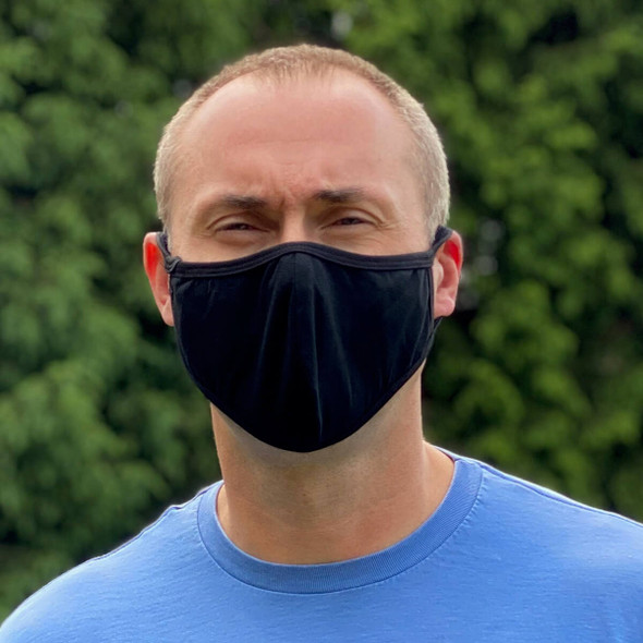 Cloth Face Mask Washable And Reusable 100% Cotton - Front View