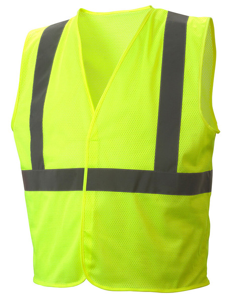 RVHLM2910 Type R Class 2 Hi-Vis Lime Mesh Safety Vest - Front