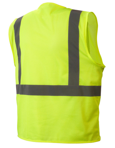 RVHLM2910 Type R Class 2 Hi-Vis Lime Mesh Safety Vest - Back