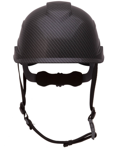 Pyramex Ridgeline XR7 Cap Style Hard Hat with 6-Point Ratchet Suspension - Front View