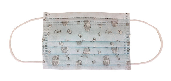 Disposable 3-Ply Face Mask For Children, FDA-Registered (50-Pack) - Front View