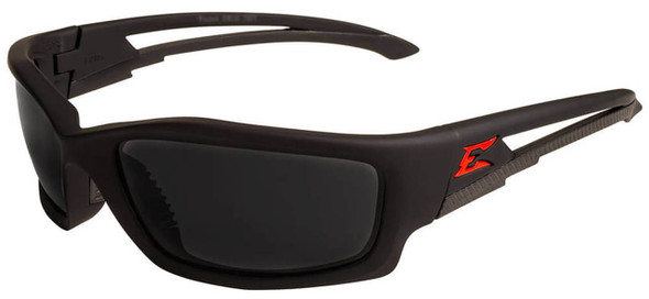 Edge Kazbek Safety Glasses with Black Frame and Smoke Polarized Vapor Shield Lens