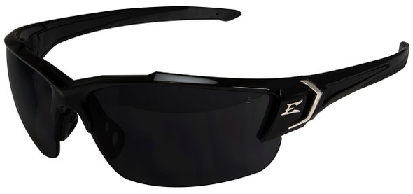 Edge Khor G2 Safety Glasses with Black Frame and Smoke Polarized Vapor Shield Lens