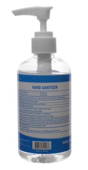Clean Rx Hand Sanitizer 8oz Pump Bottle (Case of 12) - Back View