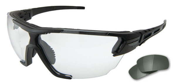 Edge Tactical Eyewear Phantom Rescue Safety Glasses Black Frame 2 Lens Vapor Shield Kit