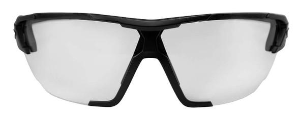 Edge Tactical Eyewear Phantom Rescue Safety Glasses Black Frame 2 Lens Vapor Shield Kit - Front View