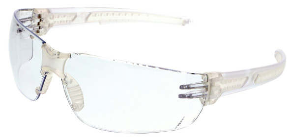 Crews HK2 Safety Glasses with Clear Frame and Clear MAX6 Anti-Fog Lens