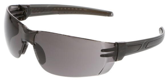 Crews HK2 Safety Glasses with Black Frame and Gray MAX6 Anti-Fog Lens