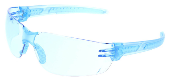 Crews HK2 Safety Glasses with Blue Frame and Light Blue MAX6 Anti-Fog Lens