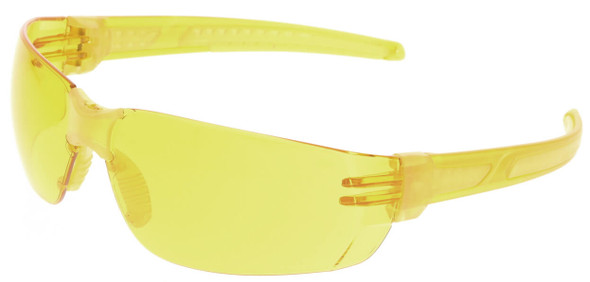 Crews HK2 Safety Glasses with Yellow Frame and Amber MAX6 Anti-Fog Lens