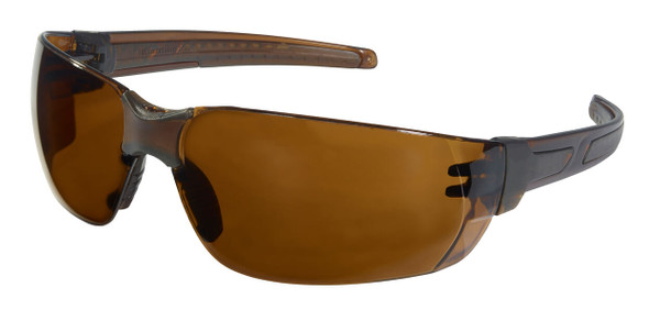 Crews HK2 Safety Glasses with Brown Frame and Brown MAX6 Anti-Fog Lens