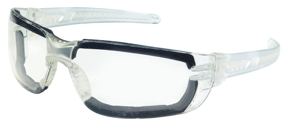 Crews HK3 Safety Glasses with Foam-Lined Clear Frame and Clear MAX6 Anti-Fog Lens