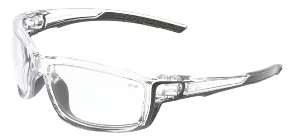 Crews Swagger SR4 Safety Glasses with Clear Frame and Clear MAX6 Anti-Fog Lens