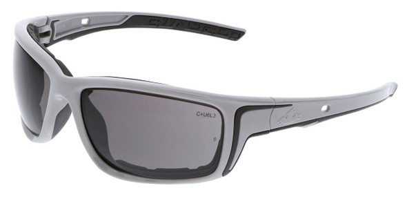 Crews Swagger SR5 Foam-Lined Safety Glasses with Gray Frame and Gray MAX6 Anti-Fog Lens
