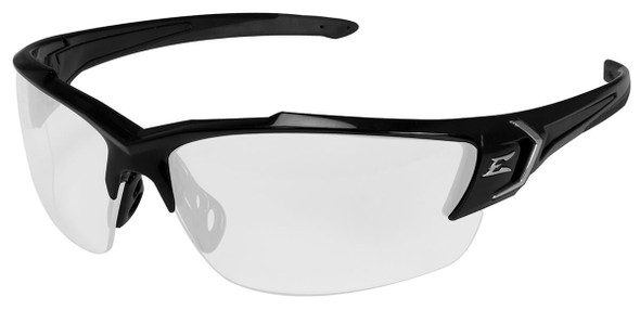Edge Khor G2 Safety Glasses with Black Frame and Clear Anti-Reflective Lens