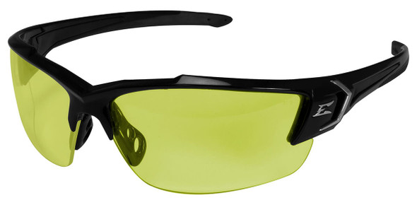 Edge Khor G2 Safety Glasses with Black Frame and Yellow Lens