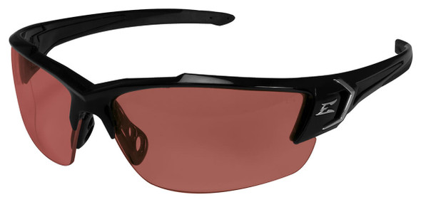 Edge Khor G2 Safety Glasses with Black Frame and Copper Driving Lens