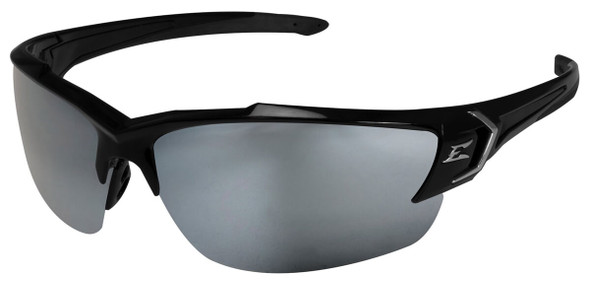 Edge Khor G2 Safety Glasses with Black Frame and Silver Mirror Lens