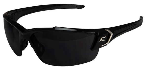 Edge Khor G2 Safety Glasses with Black Frame and Smoke Vapor Shield Lens
