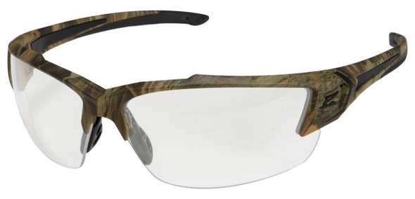 Edge Khor G2 Safety Glasses with Forest Camo Frame and Clear Lens