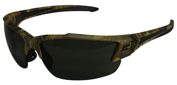 Edge Khor G2 Safety Glasses with Forest Camo Frame and Polarized Smoke Lens