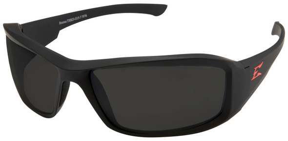 Edge Brazeau Torque Safety Glasses with Black Frame and Smoke Vapor Shield Lens