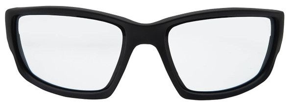 Edge Kazbek Safety Glasses with Black Frame and Clear Vapor Shield Lens - Front View