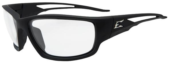 Edge Kazbek Safety Glasses with Black Frame and Clear Vapor Shield Lens