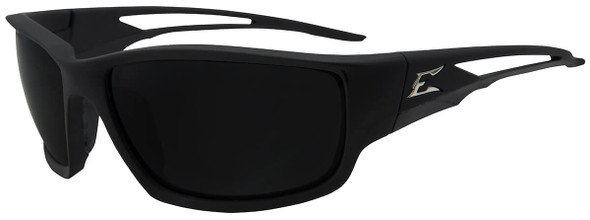 Edge Kazbek Safety Glasses with Black Frame and Smoke Vapor Shield Lens
