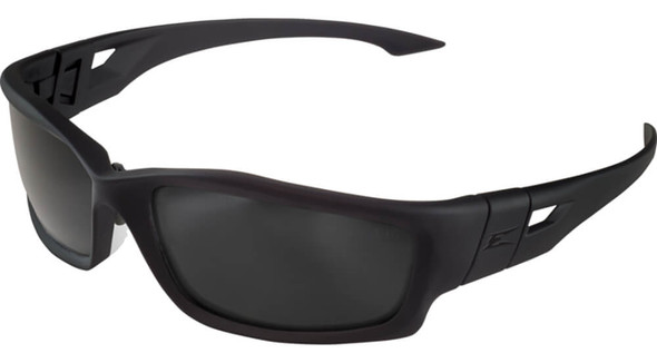 Edge Tactical Eyewear Blade Runner Safety Glasses with Black Frame and Polarized Smoke Vapor Shield Lens
