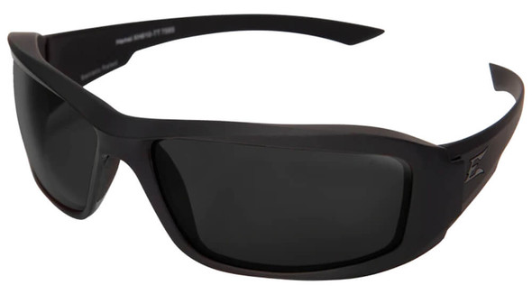 Edge Tactical Eyewear Hamel Safety Glasses with Black Thin Temple and Polarized Smoke Vapor Shield Lens