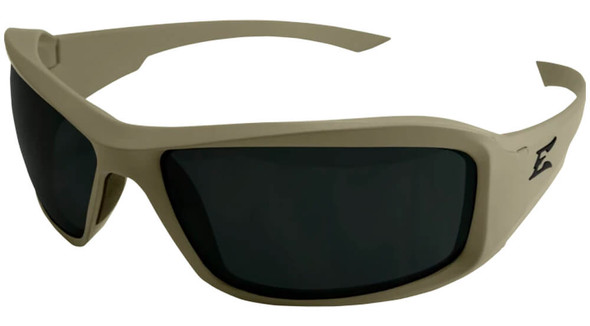 Edge Tactical Eyewear Hamel Safety Glasses with Ranger Green Thin Temple and Polarized Smoke Vapor Shield Lens