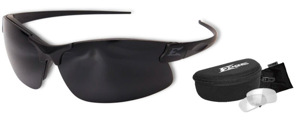 Edge Tactical Eyewear Sharp Edge with Thin Temple and 2 Vapor Shield Lens Kit Clear & G-15