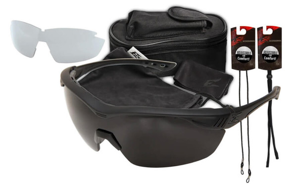 Edge Tactical Eyewear Overlord Safety Glasses 2-Lens Kit Clear & G-15 Vapor Shield Lenses