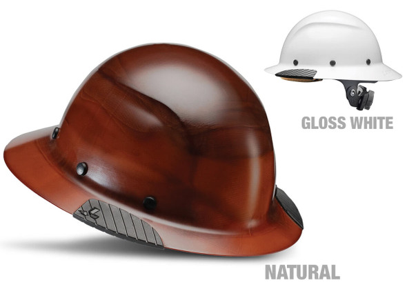 Lift Safety Dax Fiber Resin Full Brim Hard Hat with 6-Point Suspension